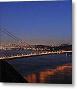 Golden Gate Bridge On A Beautiful Winter Evening Metal Print