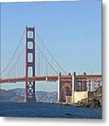 Golden Gate Bridge Panoramic Metal Print by Melanie Viola