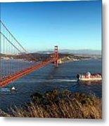 Golden Gate Bridge Scenic View In San Francisco Metal Print