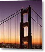 Golden Gate Bridge Sunrise From Marin Metal Print