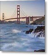 Golden Gate Bridge Sunset Study 5 Metal Print