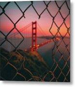 Golden Gate Caged Metal Print