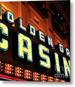 Golden Gate Casino Metal Print by John Rizzuto