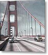 Golden Gate Crossing Metal Print by Eric  Bjerke Sr
