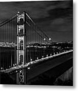 Golden Gate Evening- Mono Metal Print