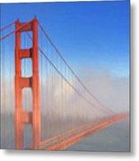Golden Gate In Morning Fog Metal Print