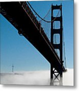 Golden Gate - In Silhouette  Metal Print