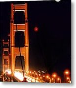 Golden Gate Night Metal Print