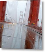 Golden Gate Rain Metal Print