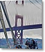Golden Gate Sailing Metal Print