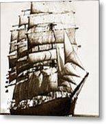 Golden Gate Tall Ship Circa 1905 Metal Print