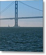 Golden Gate - The Fog Is Lifting Metal Print