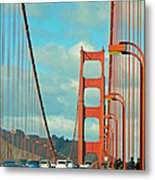 Golden Gate Walkway Metal Print