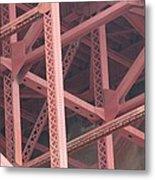 Golden Gate's Skeleton Metal Print