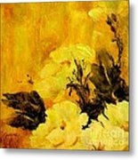 Golden Glow Metal Print