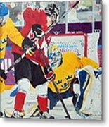 Golden Goal In Sochi Metal Print