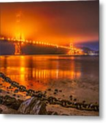 Golden Golden Gate Bridge  Metal Print