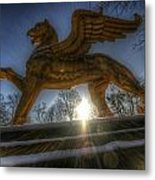 Golden Griffin Metal Print