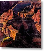 Golden Hour Mather Point Grand Canyon National Park Metal Print