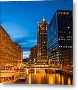 Golden Hour Milwaukee River Metal Print