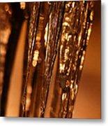 Golden Ice Metal Print