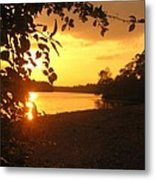 Golden Lake Metal Print