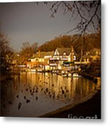 Golden Light At Boathouse Row Metal Print