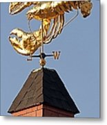 Golden Lobster Weathervane Metal Print