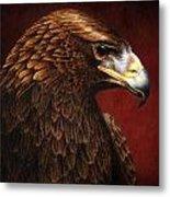 Golden Look Golden Eagle Metal Print