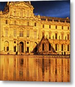 Golden Louvre - Paris Metal Print