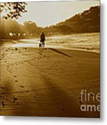 Golden Memories Metal Print