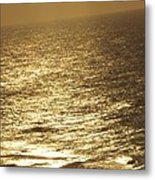 Golden Moonlight Or Moon Surface Metal Print