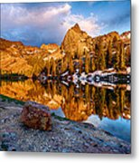 Golden Mountain Light Metal Print