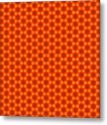 Golden Orange Honeycomb Hexagon Pattern Metal Print