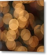 Golden Orbs Metal Print