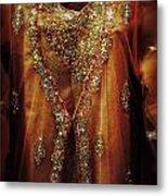 Golden Oriental Dress Metal Print