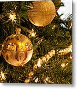 Golden Ornaments Metal Print