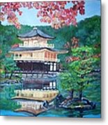 Golden Pavillion In Kyoto Metal Print