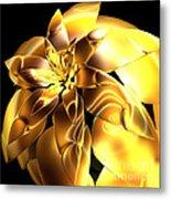 Golden Pineapple By Jammer Metal Print