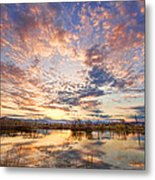 Golden Ponds Scenic Sunset Reflections 4 Metal Print