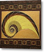 Golden Ratio Spiral Metal Print