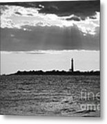 Golden Rays At Cape May Bw Metal Print