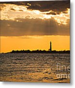 Golden Rays At Cape May Metal Print
