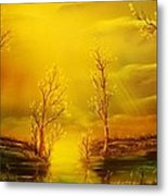 Golden Rays-original Sold-buy Giclee Print Nr 35 Of Limited Edition Of 40 Prints  Metal Print