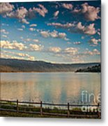 Golden Reflection On Lake Cascade Metal Print by Robert Bales