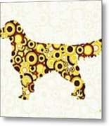 Golden Retriever - Animal Art Metal Print