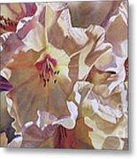 Golden Rhododendronfull Metal Print