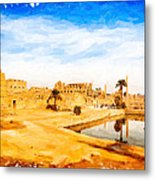 Golden Ruins Of Karnak Metal Print