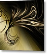Golden Scroll Metal Print