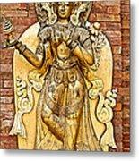 Golden Sculpture In A Hindu Temple In Patan Durbar Square In Lalitpur-nepal Metal Print